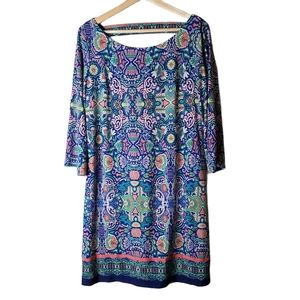 Laundry by Shelli Segal multi color sleeve dress